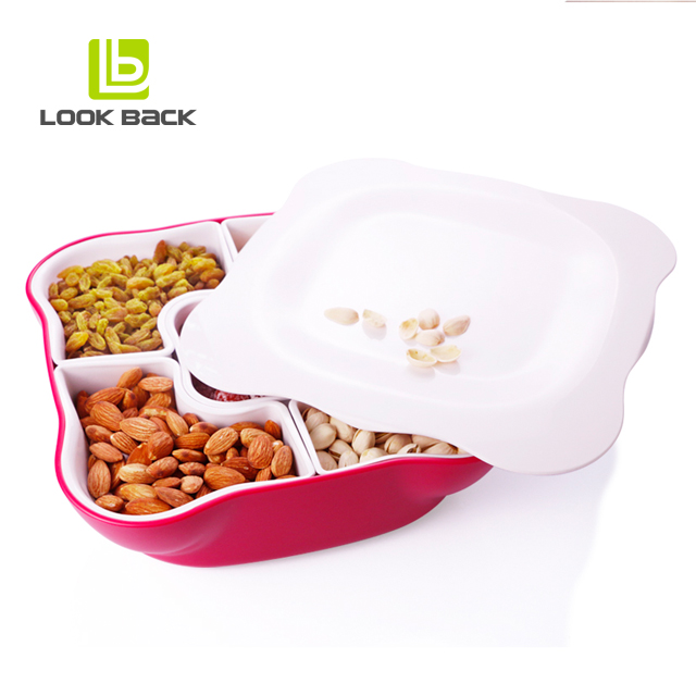plastic plate storage /dry fruit bowl /snack tray