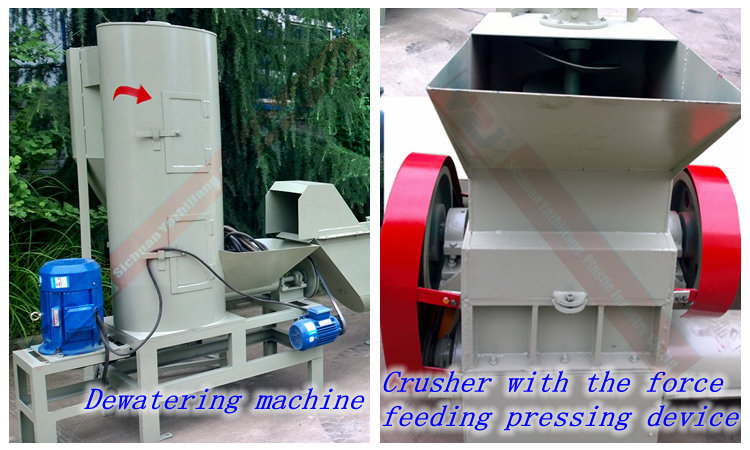 2000kg pet bottle recycling machine crush and wash line