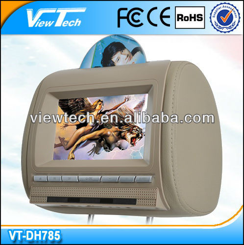 "7"" auto headrest dvd system with analog panel"