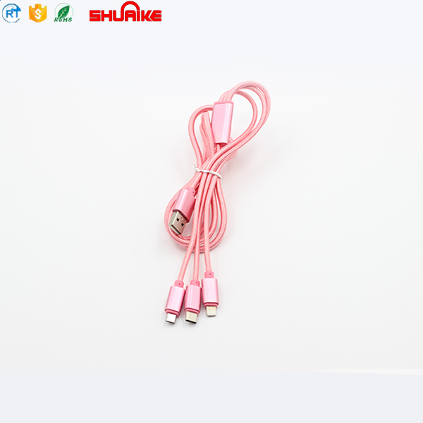 2018 Wholesale Nylon Braided USB Data Charger Cable Micro USB