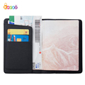 Encai Fashion Pure Color Passport Holder Travel PU Passport Cover