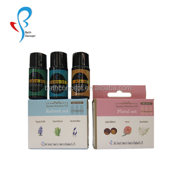 OEM/ODM 3pcs/set GMPC certification 100% pure essential oil gift set