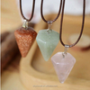 fashion natural energy stone necklace, crystal triangle necklace(SWTJU709)