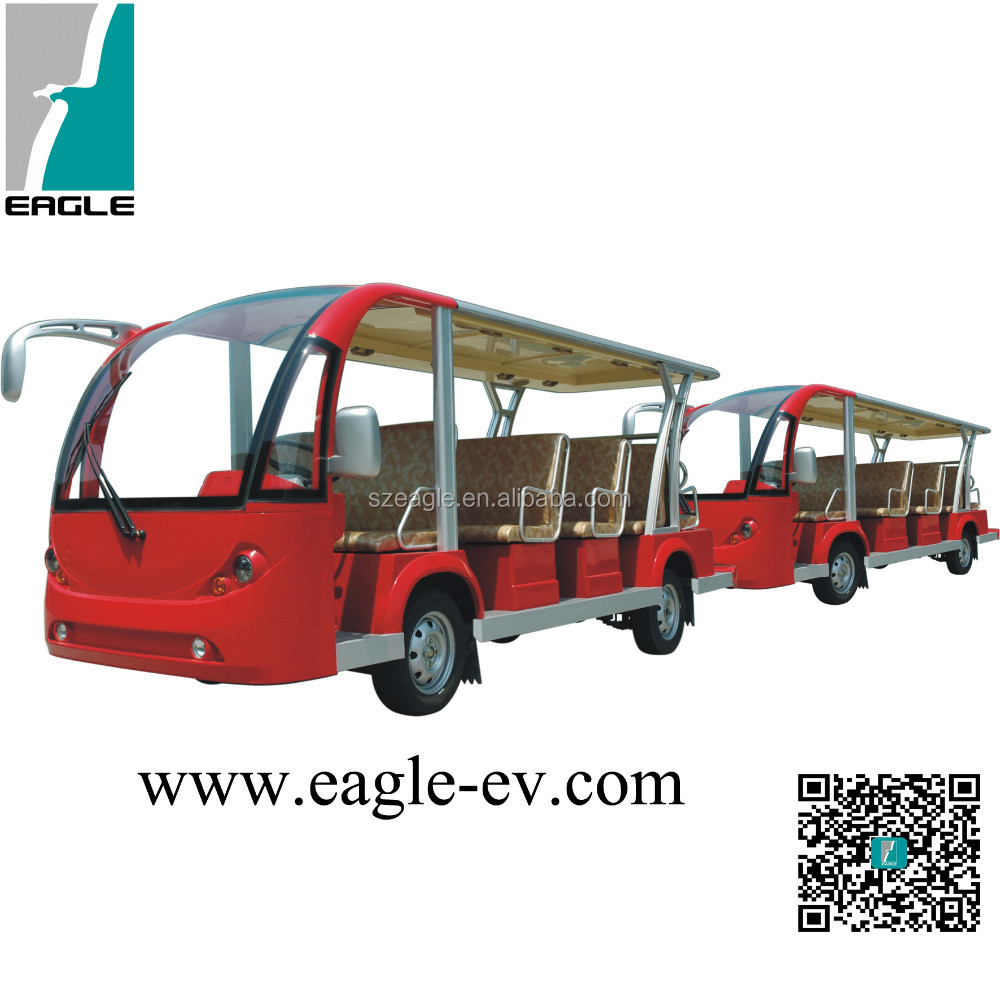 29 seats Electric passenger carrier with trailer, bus trailer, bus car/mini car/mini bus EG6158T+EG6158T trailer