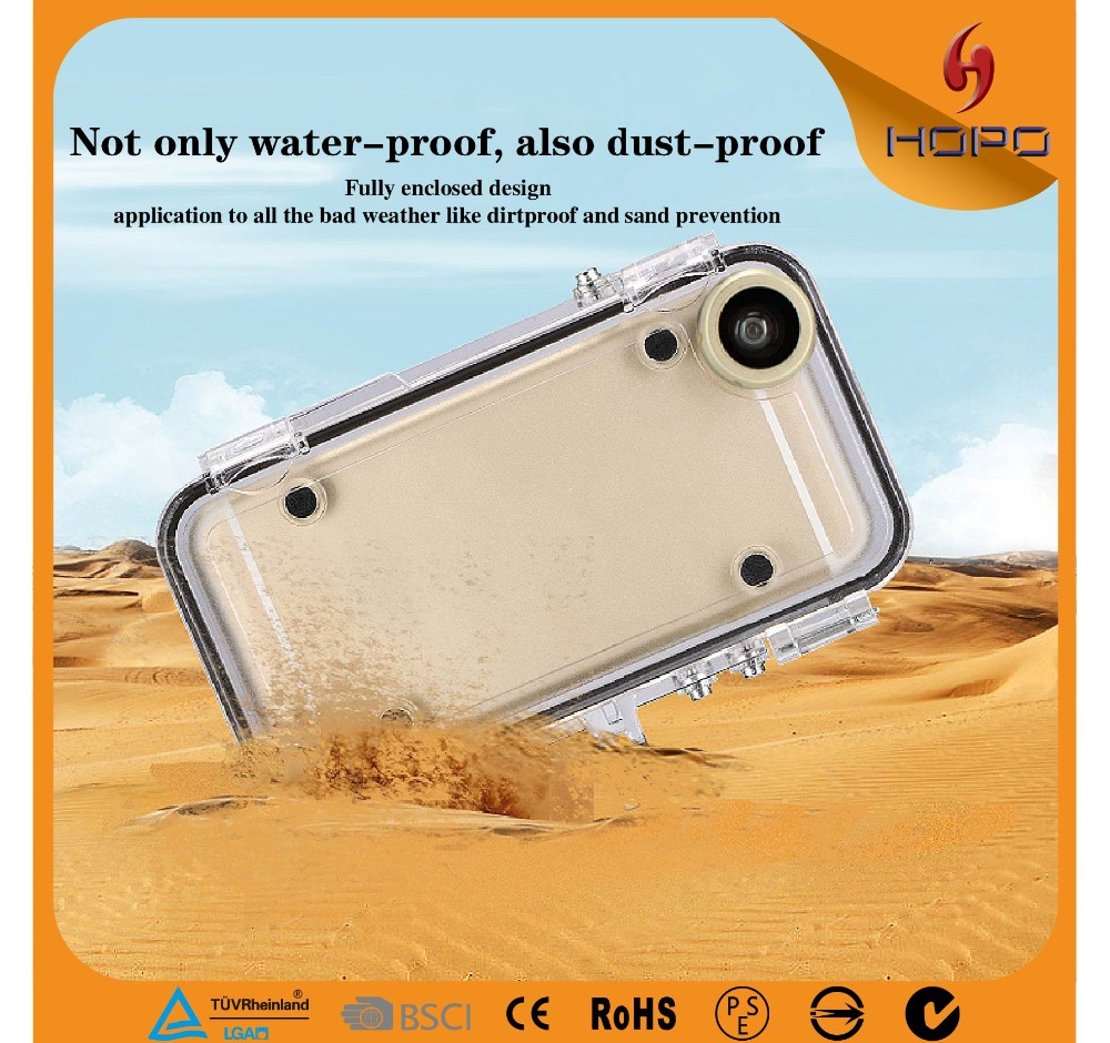 Shockproof IP68 Underwater Cases for Diving Swimming Surfing with Adapter Mount for iPhone 6 6S