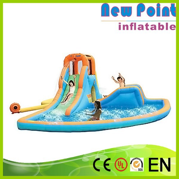 New Point Giant fiberglass water park slides for sale, inflatable pool slides