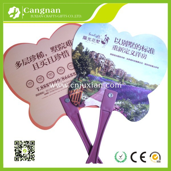 custom promotion cheap advertising hand fans