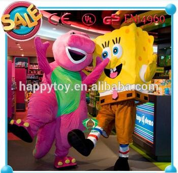 HI EN71 Cute SpongeBob mascot costume, SpongeBob cartoon mascot