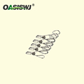 5 pcs Pack Durable S/S clips with Hook 4'