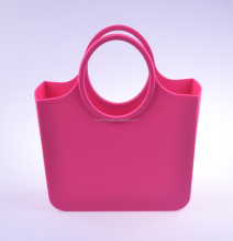 China Manufacturer Fashionable Eco-friendly multicolored silicone beach handbag