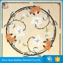 Mosaic Pattern For Flooring,Natural Stone Marble Medallion Waterjet Inlay Flooring Tile Design For Living Room