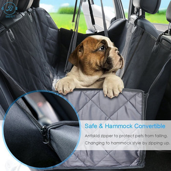 Rear Back Hammock Dog Cat car seat cover Waterproof Protects Blanket for pet Travel