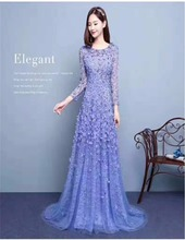 Fairy Design Handmade Flower Appliqued 2017 In Guangzhou Small Beads Evening prom Dresses Long