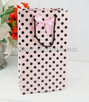 Luxury paper small shopping gift bag for hot sale in Dongguan