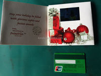 Usb video book card o with TFT LCD screen for advertise christmas greeting card Factory Support OEM/ODM