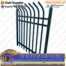 Ornamental forged wrought iron fence spearhead designs
