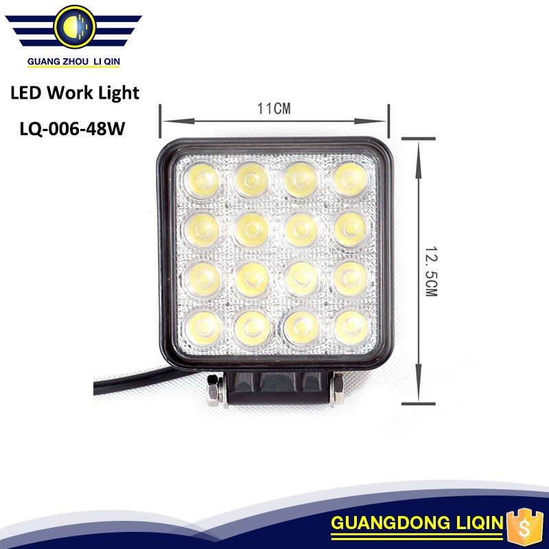 48W LED WORK LIGHT ! Long lifetime CE RoHs IP67 waterproof led spot/ flood led work lamp, 48W Led work light