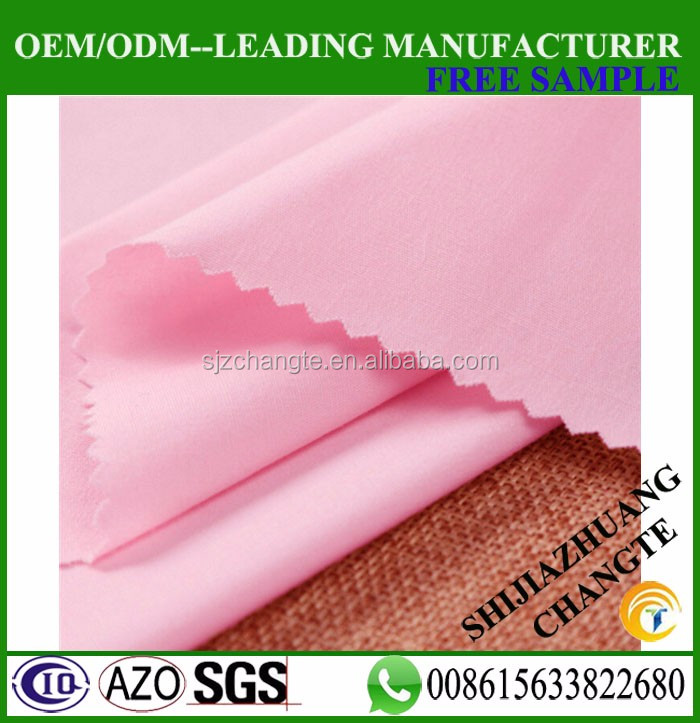 100% cotton 133*72 dying plain fabric garment fabric factory supply