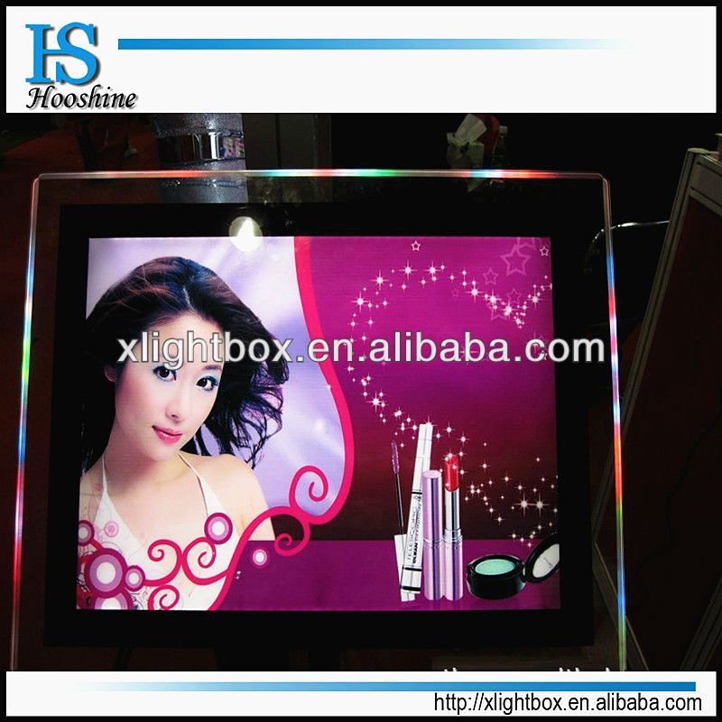 double sides crystal advertising light box/hanging acrylic led frame