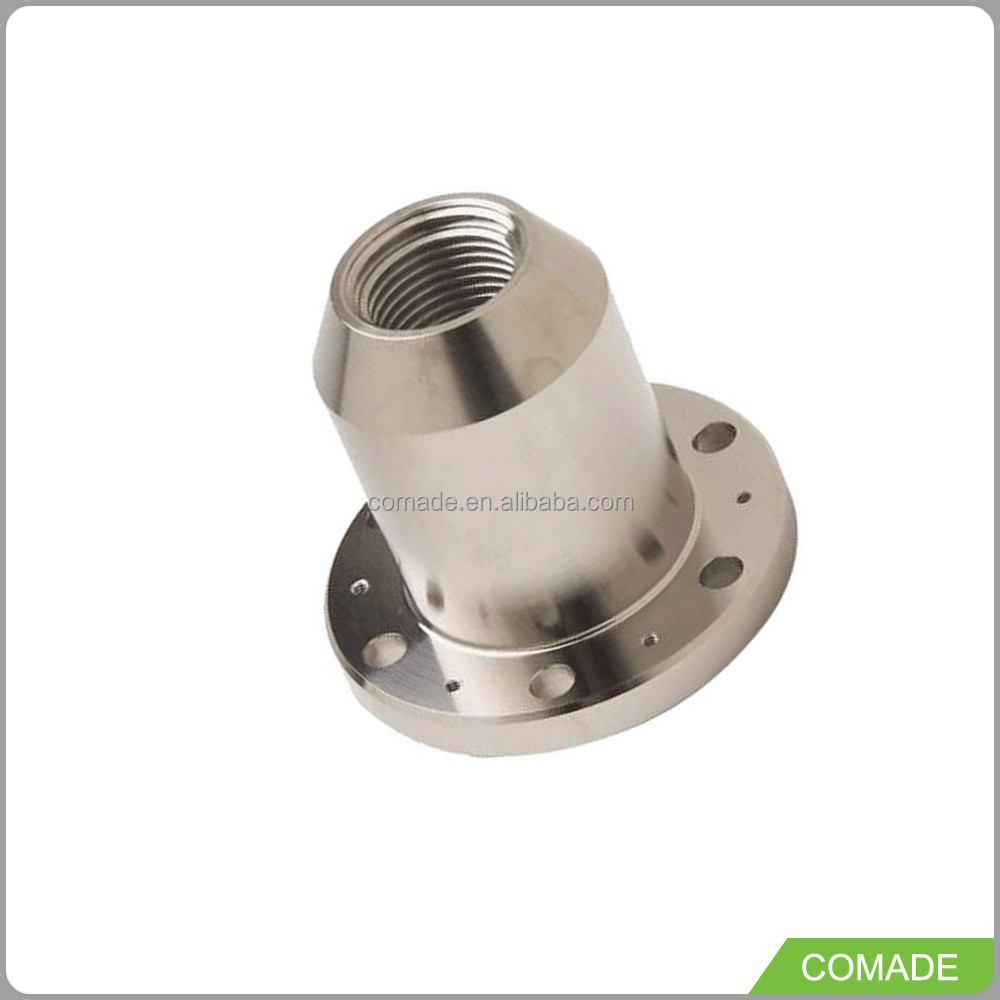 OEM metal precision turned fabricated lathe machining outsourcing cnc metal parts with thread