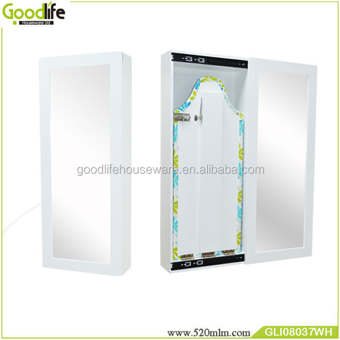 Wooden wall mounted ironing board with sliding door from Guangdong