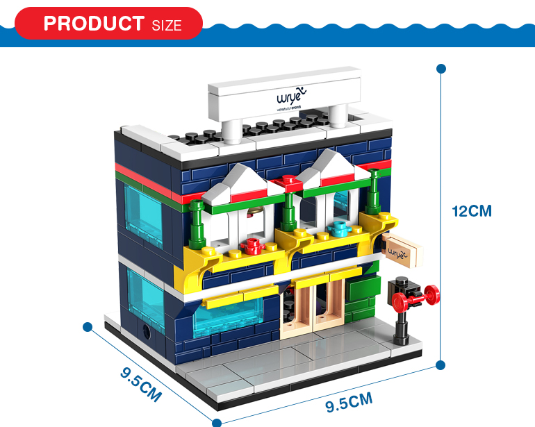 145 pcs diy 3d city street series sports store model toy build blocks for kids