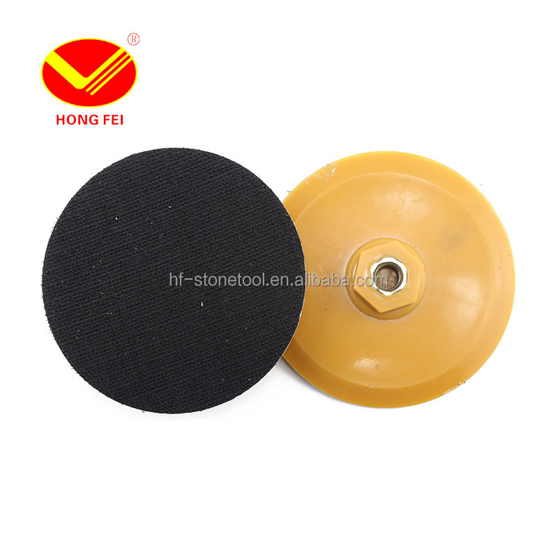 4 inch <strong>100mm</strong> Plastic Polishing Disk For <strong>M10</strong> Velro Polishing Pad Buffer Polisher Bonnet Pad