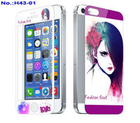 Colourful Cartoon Tempered Glass Screen Protector for iPhone 4/4S/5/5C/5S