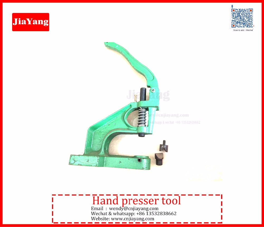 shoelace metal aglets / metal tips /Barb / T tips hand press machine