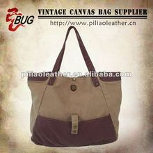 2012 Latest Original Vintage Design Cotton Canvas Tote Bag For Men/Women/Teens/Young/Ladies Good For Shopping