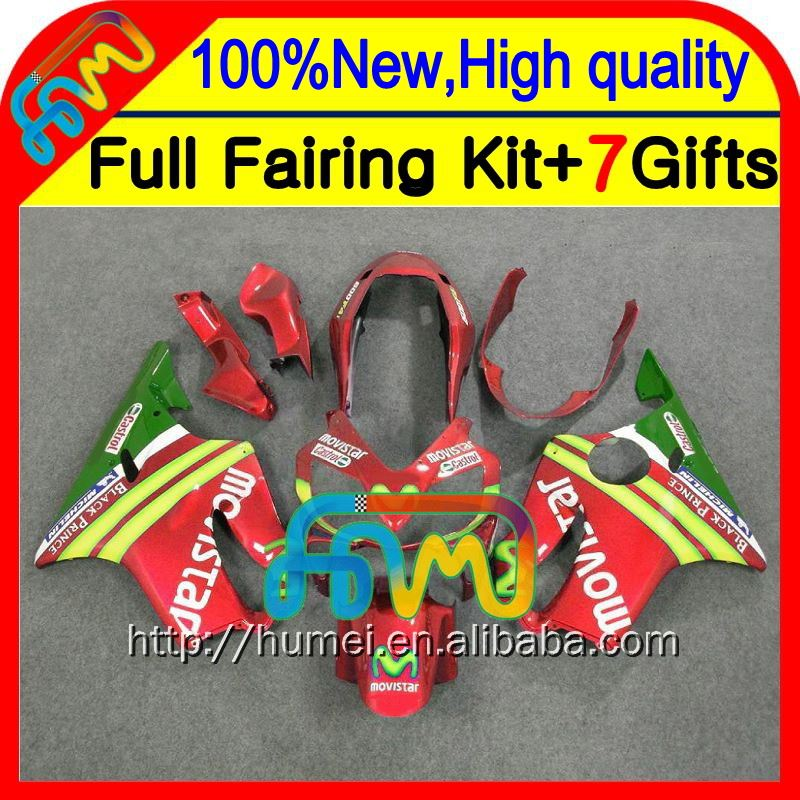 7gifts For HONDA CBR600F4i 04 05 06 07 Movistar red CBR 600F4i 23CL8 CBR600 F4i 2004 2005 2006 2007 Fairings Fairing Green red