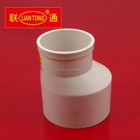 Liantong PVC waste water coupling, UPVC Plastic Reducing Coupler Fittings factory