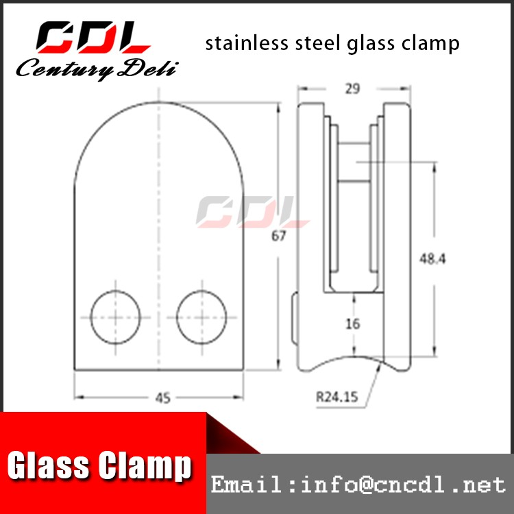 304 316 stainless steel stair glass balustrade fitting clamp