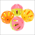 plastic pet bell ball toy