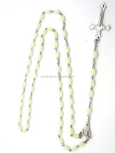 6 MM GLOWS IN THE DARK CATHOLIC RELIGIOUS CHRISTIAN HAND MADE ROSARY BEADS