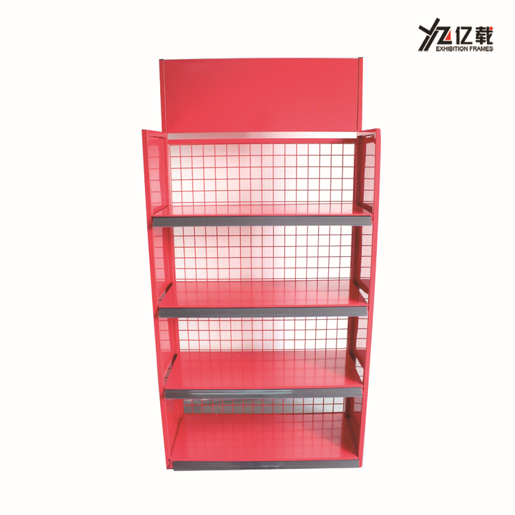 Various style single side wire mesh back engine oil display stand/car accessories display rack