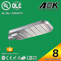8 years' warranty UL/DLC listed aluminum led street light housing with IP66 & IK10