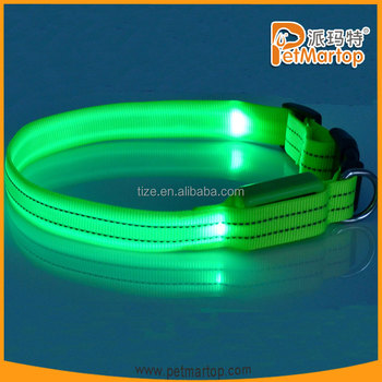 Hot selling Pet Accessories TZ-PET2110F led reflective dog collar