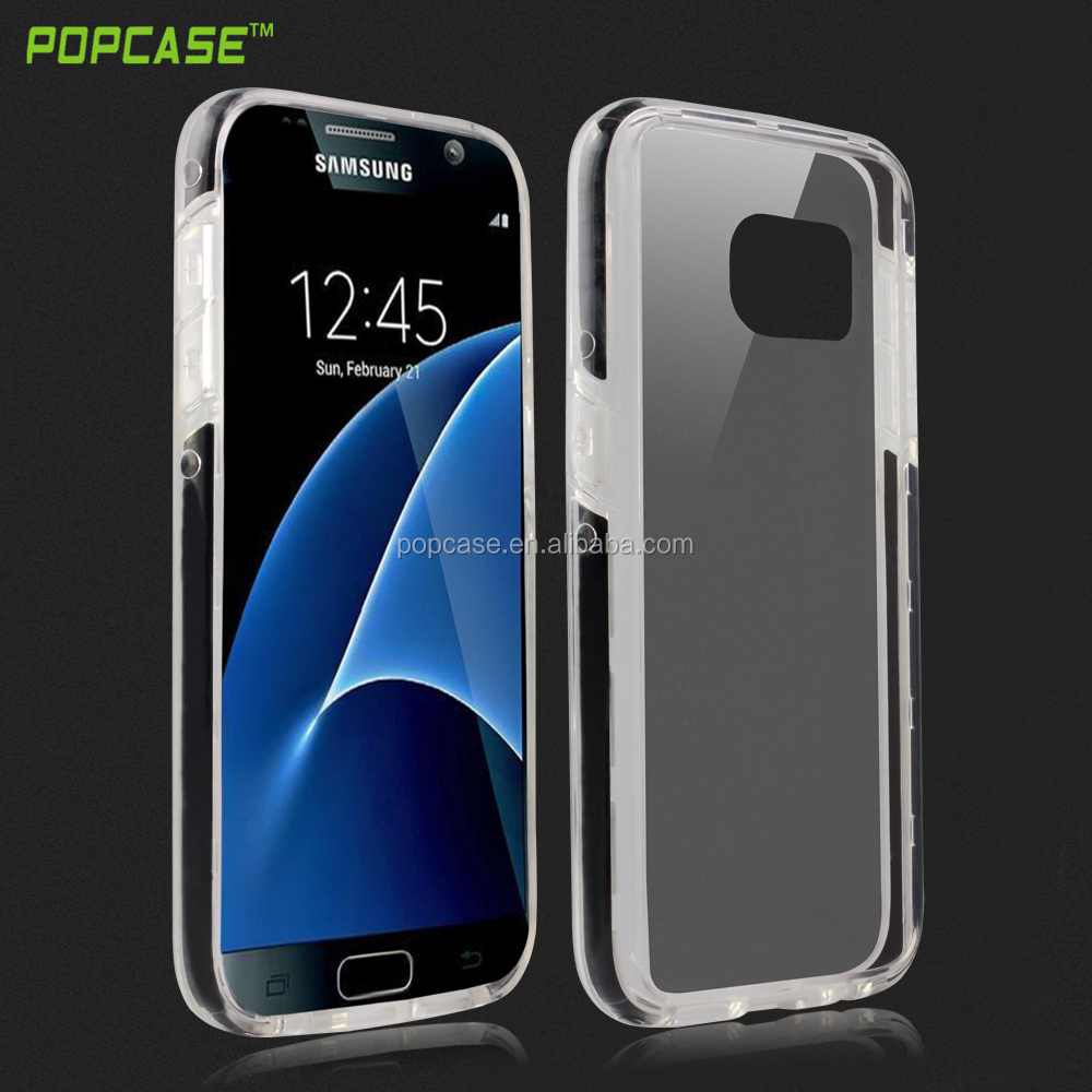 Luxurytpu pc silicone phone case for Samsung S7