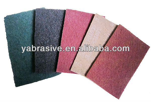 abrasive scouring pad / non-woven cloth/ cleaning and conditionig metal wood