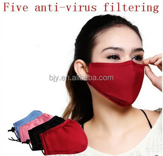 Health charcoal Antivirus pm2.5 anti-fog and haze masks emissions activated carbon filter mask