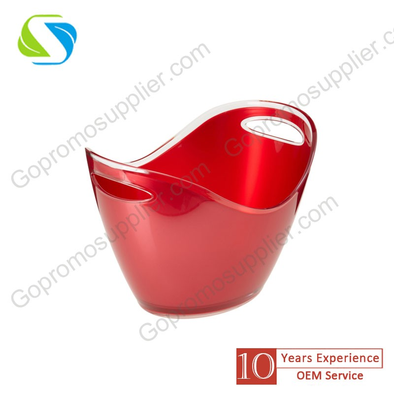 green Durable acrylic with easy-to-carry ice bucket