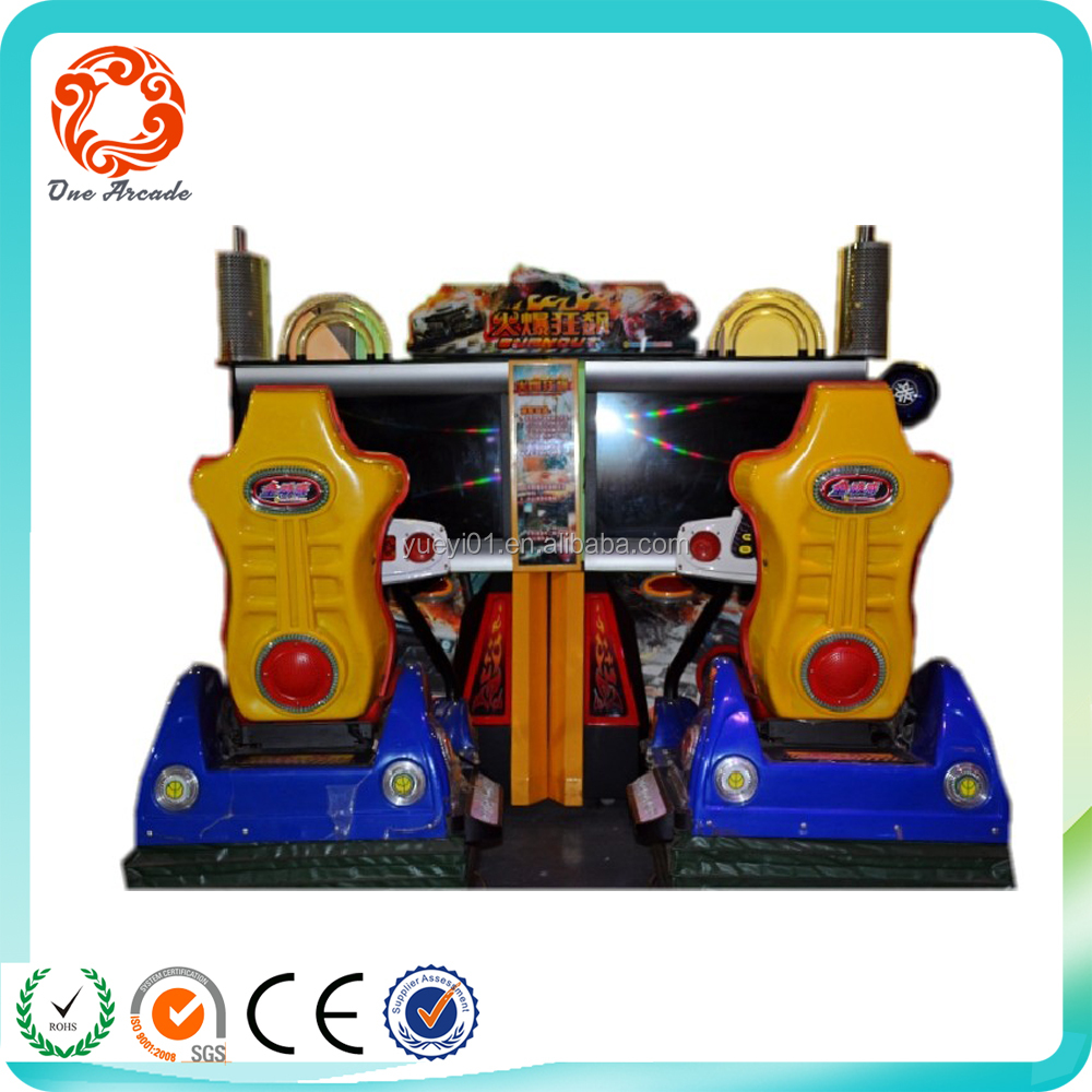 "47"" 4D Burnout 2 players Popular Entertainment deluxe car racing coin operated simulator video game machine for sale"