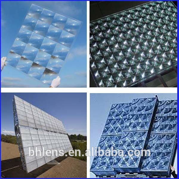 fresnel lens solar concentrator array