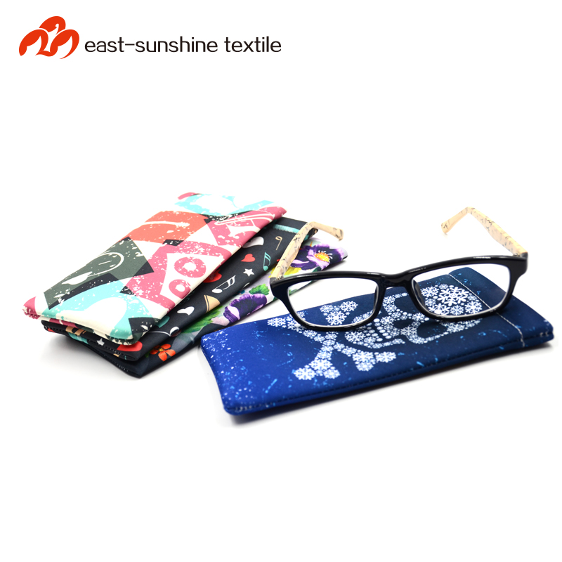 Good looking and cheap PU leather shrapnel bag for eyeglasses