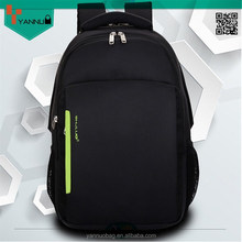 fashion blank durable sports black portable high quality nylon laptop school bags backpack good design for teenagers