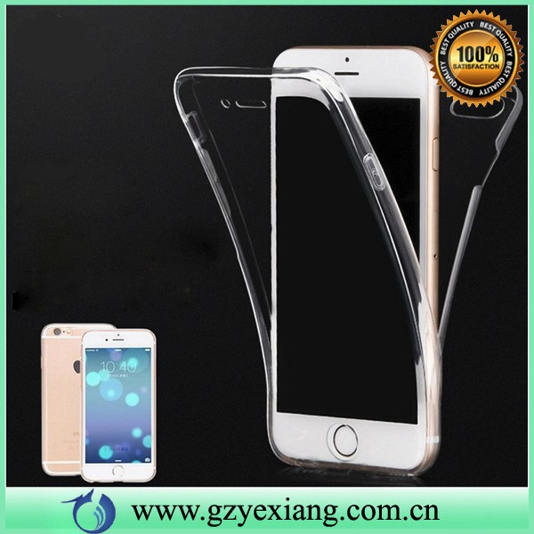 newest seamless front and back full body two pieces tpu clear cover case for iphone 6s/6