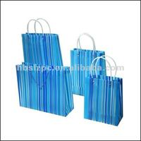 Hot selling Shopper pp gift bag hanger clear bag/Euro shopper bags