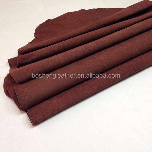 CHROME TANNED LEATHER SOFT PIG SUEDE LEATHER FOR SHOE LEATHER