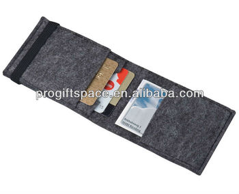 2017 hot new products china supplier wholesale alibaba high quality felt men's card travel wallet